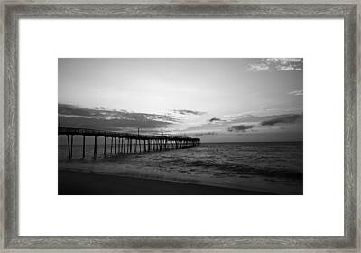 Avon Pier In Outer Banks Nc Framed Print