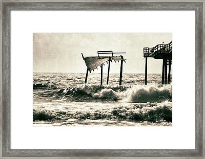 Avon Pier North Carolina Framed Print by Patricia Januszkiewicz