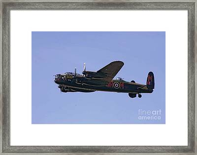 Avro 638 Lancaster At The Royal International Air Tattoo Framed Print by Paul Fearn