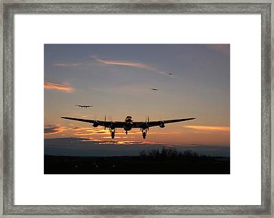 Avro Lancaster - Dawn Return Framed Print by Pat Speirs
