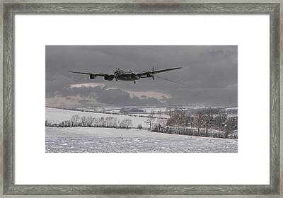Avro Lancaster - Limping Home Framed Print by Pat Speirs