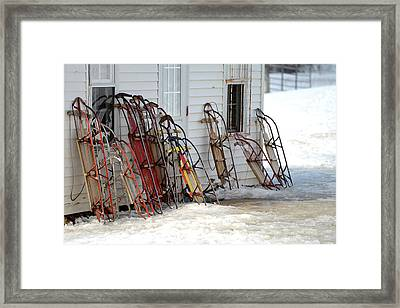 Framed Print featuring the photograph Awaiting Joy by Linda Mishler