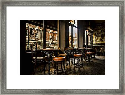 Awaiting Patrons Framed Print by Heather Applegate
