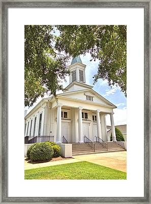 Framed Print featuring the photograph Awaiting The Congregation by Gordon Elwell