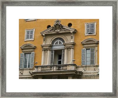 Framed Print featuring the photograph Awaiting The Pope by Robin Maria Pedrero