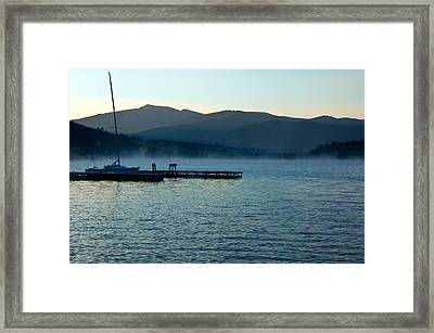 Awaiting The Sail  Framed Print