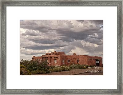 Awaiting The Storm Framed Print