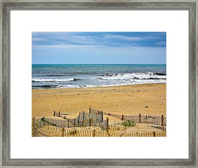 Awaiting The Storm - Sandbridge Virginia Framed Print