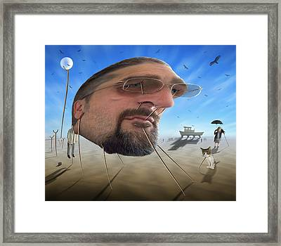 Awake . . A Sad Existence Framed Print by Mike McGlothlen