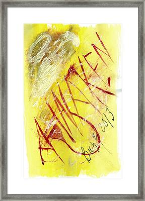 Framed Print featuring the painting Awaken 2013 by Lesley Fletcher