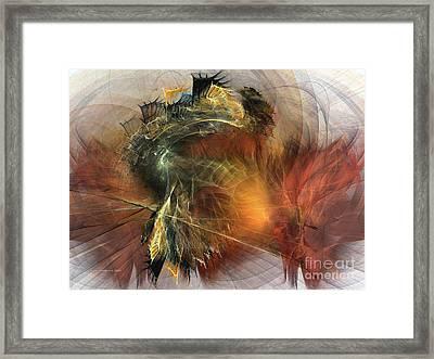 Awakening-abstract Art Framed Print by Karin Kuhlmann