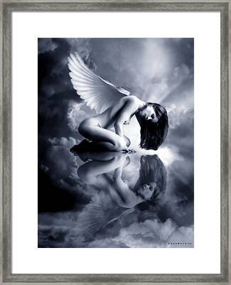 Awakening Blue Angel Framed Print by Shanina Conway