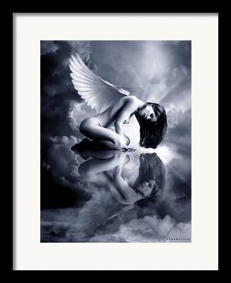 Angel Blues Digital Art Framed Prints