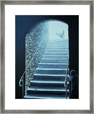 Awakening By A Dove Framed Print