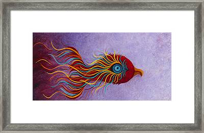 Mythical Phoenix Awakening Framed Print