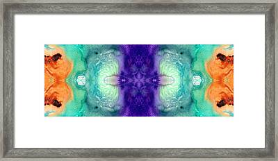 Awakening Spirit - Pattern Art By Sharon Cummings Framed Print by Sharon Cummings