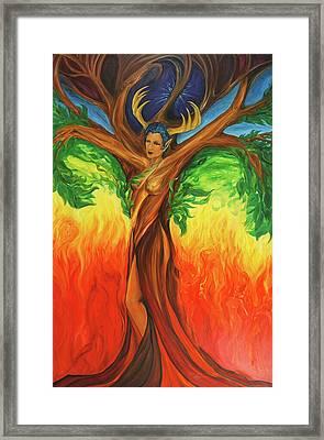 Awakening The Chakra Tree Framed Print by Jennifer Christenson