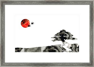 Awakening - Zen Landscape Art Framed Print by Sharon Cummings
