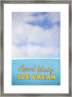 Award Winning Ice Cream Framed Print