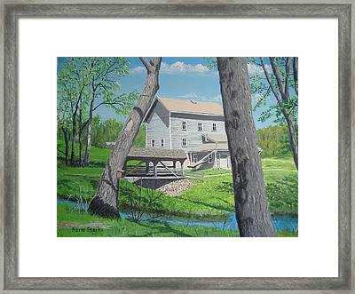 Award-winning Painting Of Beckman's Mill Framed Print by Norm Starks