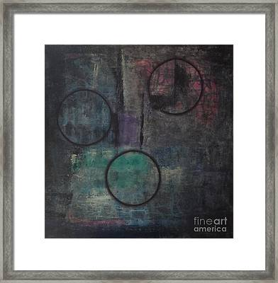Aware Of Silence Framed Print by Mini Arora