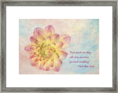 Awareness Framed Print