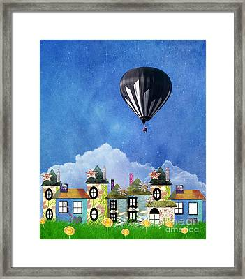 Away Above The Chimney Tops Framed Print by Juli Scalzi