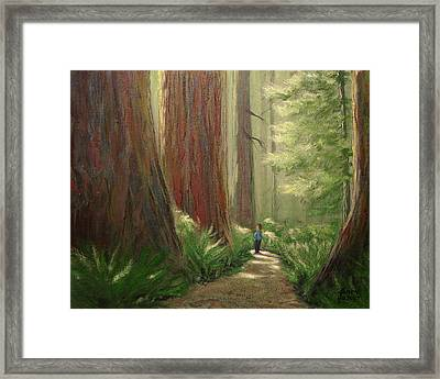 Awe Stand Framed Print by Kenny Henson
