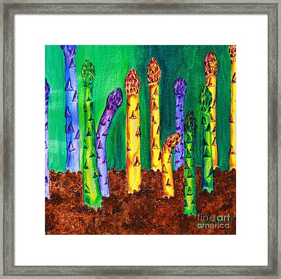 Awesome Asparagus Framed Print