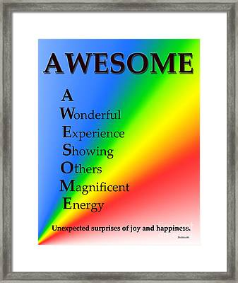 Awesome Buseyism - Original Buseyism Artwork Framed Print