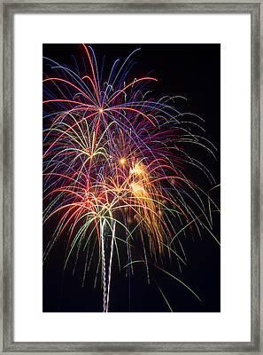 Awesome Fireworks Framed Print