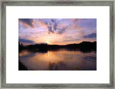 Framed Print featuring the photograph Awesome Sunset by Lorna Rogers Photography