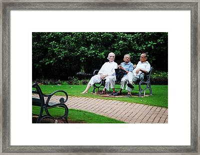 Awesome Threesome Framed Print by Money Sharma