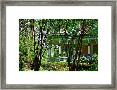 Awesome Victorian Porch Framed Print
