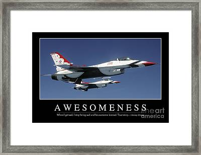 Awesomeness Inspirational Quote Framed Print by Stocktrek Images