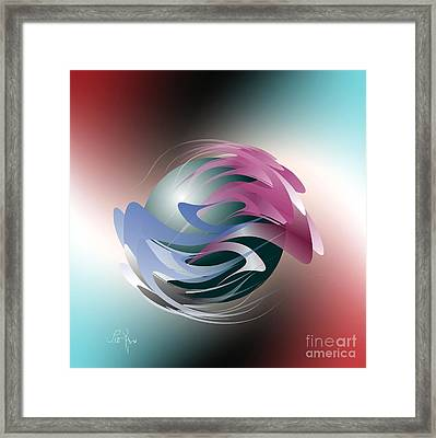 Axial Rotation Framed Print by Leo Symon