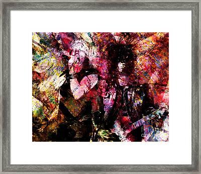 Axl And  Slash Framed Print by David Plastik