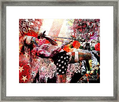 Axl Rose Original Framed Print by Ryan Rock Artist