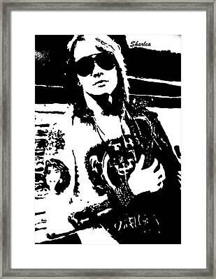 Axl Rose Framed Print by Paula Sharlea