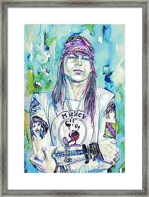 Axl Rose Portrait.1 Framed Print