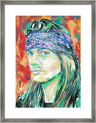 Axl Rose Portrait.2 Framed Print