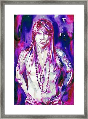 Axl Rose Portrait.3 Framed Print by Fabrizio Cassetta