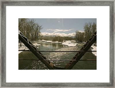 Axtell Bridge Framed Print by Jon Lister