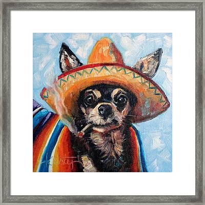 Ay Chihuahua Framed Print