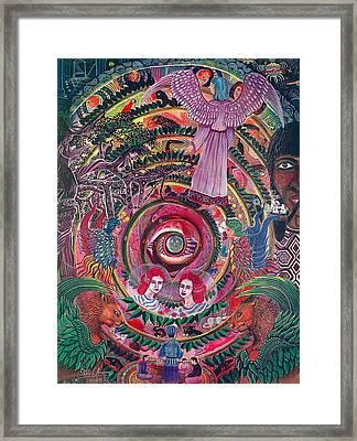 Aya Muyuywairu Tornado Espiritual Framed Print by Pablo Amaringo