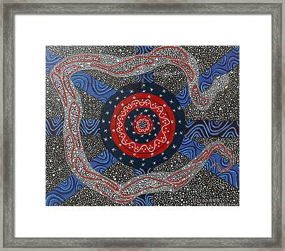 Ayahuasca Eclipse Framed Print by Howard Charing