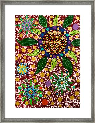 Ayahuasca Vision - The Opening Of The Heart Framed Print
