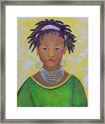 Ayana Beautiful Flower Framed Print by The Art With A Heart By Charlotte Phillips