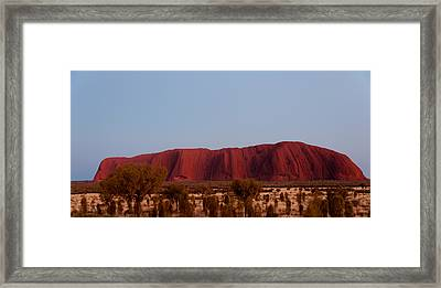 Ayers Rock At Dusk, Northern Territory Framed Print by Panoramic Images
