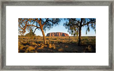 Ayers Rock Australia Framed Print by Panoramic Images